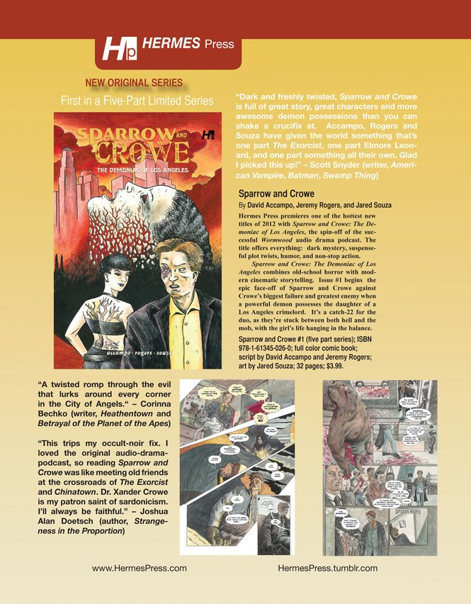 Sparrow & Crowe #1 in Diamond Previews